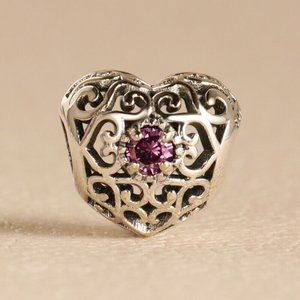 Authentic PANDORA ALE Birthstone July Heart Charm
